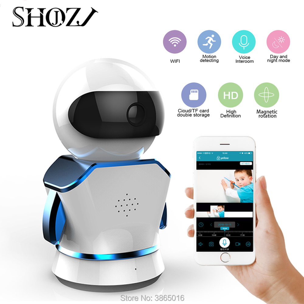 Robot  Baby Monitor IP Camera WiFi Cam Home Security Surveillance CCTV Network Camera Night Vision(China)