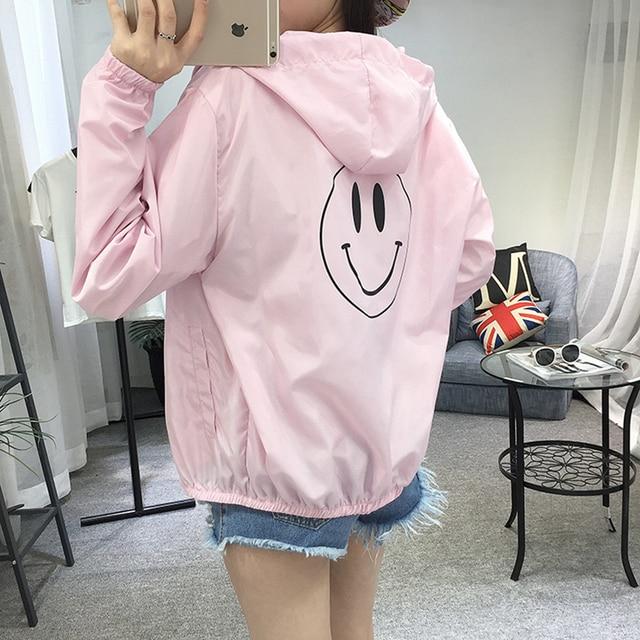 Women Basic Jacket New Fashion Hooded Thin Outwear High Quality Windbreaker Female Summer/Spring Sunscreen Jacket 2018 3