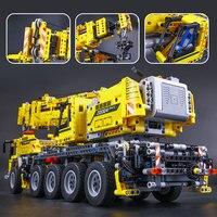 LEPINE 2606Pcs Technic Motor Power Mobile Crane Mk II Model Building Kits Blocks Bricks Christmas Gift Toy Model Gift