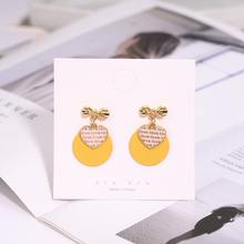 Fashion New Round Earrings Heart-Shaped Embroidery Ladies Luxury Accessories Sweet Pendant Jewelry
