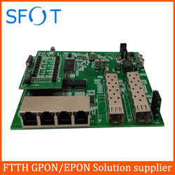 POE reverse Switch board, 2 Port SFP + 4 PortS GE Rj45 Operational PD switch