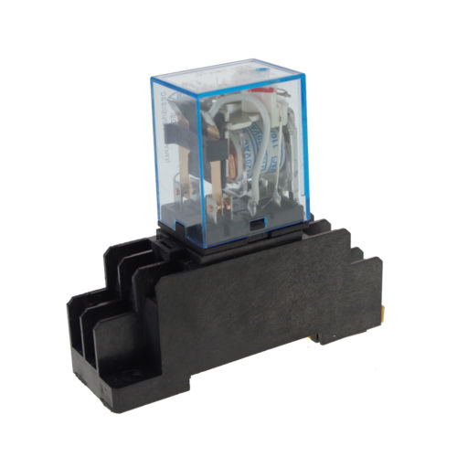 10 Pieces 12VDC 5A Coil Power Relay MY2NJ 8Pins DPDT With Socket батут nj 12 48d