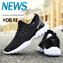 цена на New Arrival Unisex Running Shoes Lace Up Outdoor Sport Walking Shoes Air Mesh Comfortable Athletic Shoes For Men Women