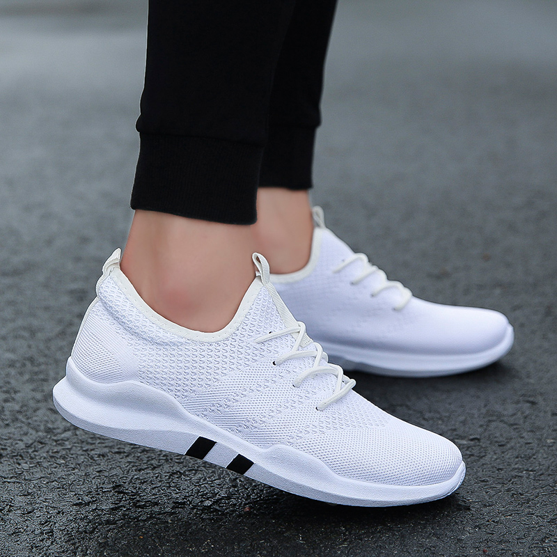 Hot Sale Spring and Autumn Men Running Shoes Outdoor walking Breathable Trainers adult Sole Comfortable Non-slip Sport Sneaker