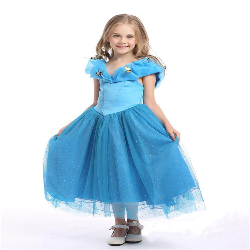 Kids Cosplay Costume Dress Cinderella Elsa Baby Girls: New Elsa Anna Dress Girls Dress Cosplay Costume Party