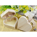 Portable Storage Boxes Heart Shape Wood Box Jewelry Box Hardware Wedding Gift Makeup Storage Bin Earrings Ring Organizer
