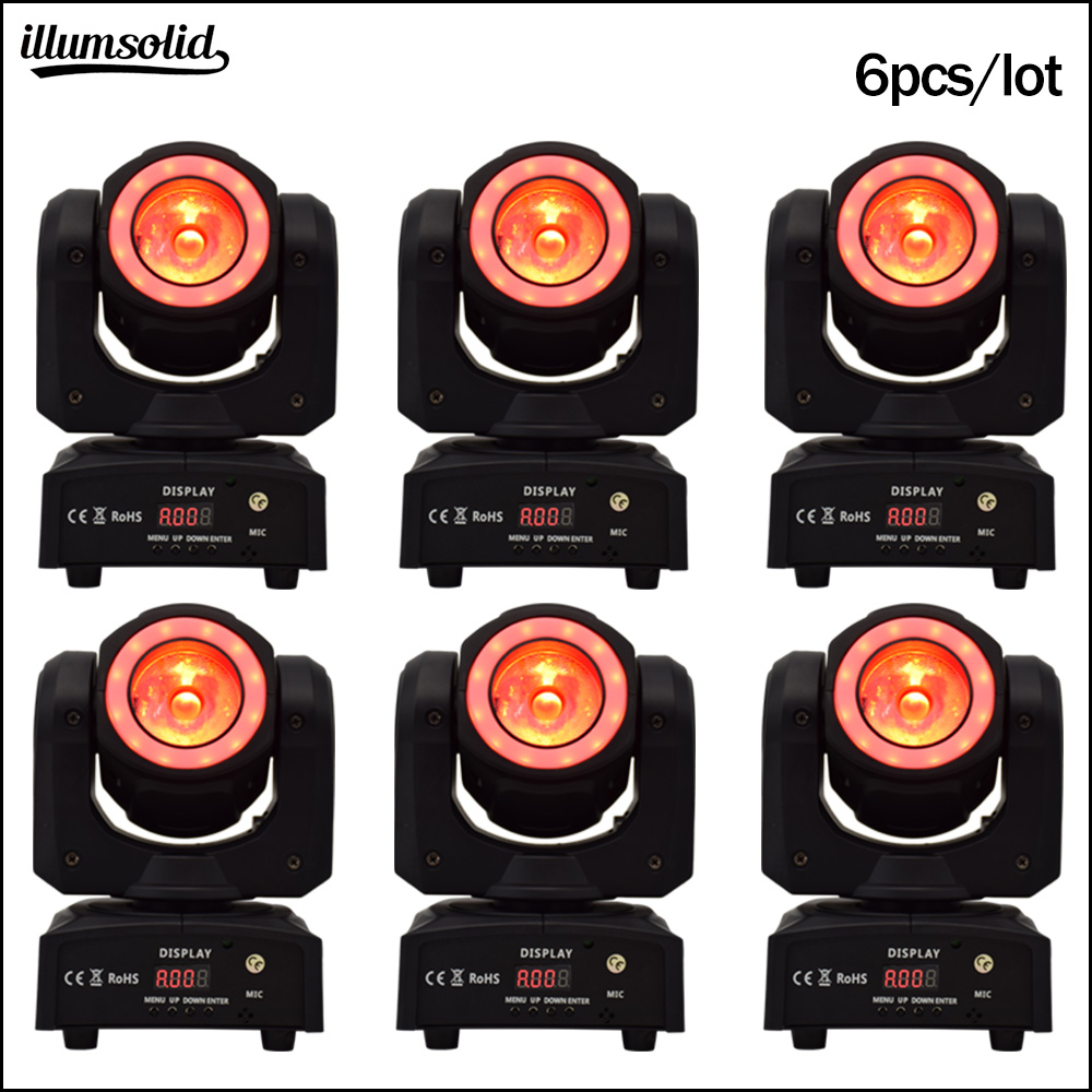 High Brightness 60w Led Beam Moving Head Stage Lighting Effect Luz Discoteca 6pcs/lot