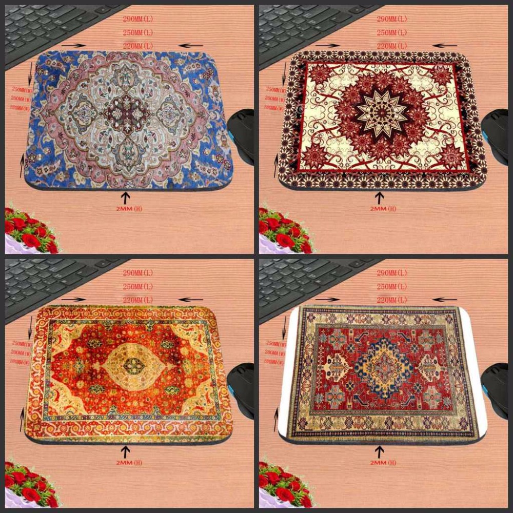 Popular Persian carpet Computer Mouse Pad Mousepads Decorate Your Desk Non-Skid Rubber Pad 220mmX180mmX2mm&250mmx290mmx2mm