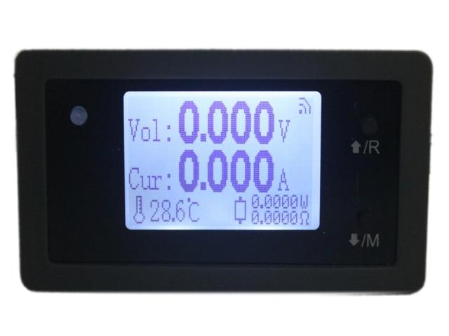 סידורי נתונים דיגיטלי DC 150V 15A מתח הנוכחי כוח מטר מדחום שעון שמש AGV רכב Battey קיבולת Tester