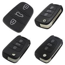 Jingyuqin 3 BTNS Remote Folding Auto Car Key Case Shell Blanks for Kia Rio Picanto Ceed Cerato Sportage K2 K3 K5 Soul Hyundai