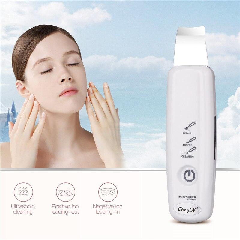 Ad ultrasuoni Viso Pore Cleaner Ionico Della Pelle Scrubber Exfoliator Dermoabrasione Ultrasuoni Massager di Vibrazione Del Viso Pulizia Profonda SkinSPA