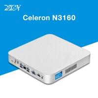 XCY Mini PC Windows 10 Intel Celeron N3160 N3150 HTPC HDMI WiFI Quad core 2.24GHz Fanless Thin Client Nettop Computer Tables pc