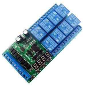Image 2 - Módulo de retardo multifunción de 8ch DC 12V, temporizador de ciclo, interruptor para secuenciador de potencia, LED, torno PLC de Motor