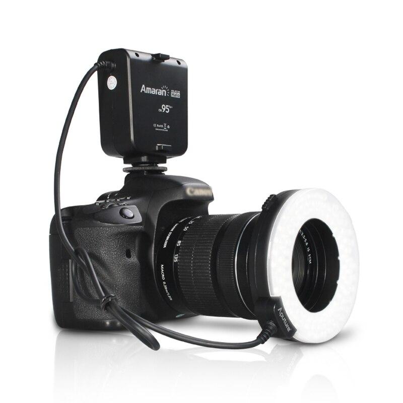 Aputure HC100 CRI 95 + Amaran Halo светодиодной вспышки Macro Ring света для Canon EOS 7D 6D 50D 5D Mark III 5D Mark II 700D 70D 650D 600D