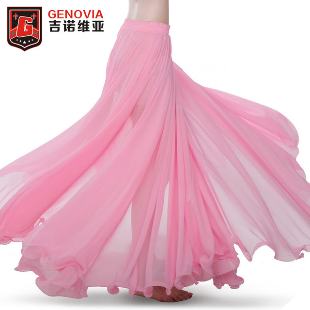 39311060c9 Professional Women Oriental Belly Dance Costume Waves Skirt Dress with Slit  Carnival Bollywood Skirt Free Shipping