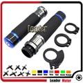 "For HONDA CB500F CB500X NC700S NC700X CB600 VTX 1300 7/8"" 22mm Carbon Fiber Handlebar Hand Grip Blue"
