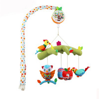 Baby Bed Bell Toys 0 12 Months Crib Mobile Musical Bed Bell with Animal Rattles Cartoon Pendant Kids Toy Comfort Toy
