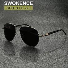SWOKENCE Prescription Sunglasses For Myopia Dioptre 0 to  6.0 Women Men Brand UV400 Glasses Spectacles For Nearsighted F158