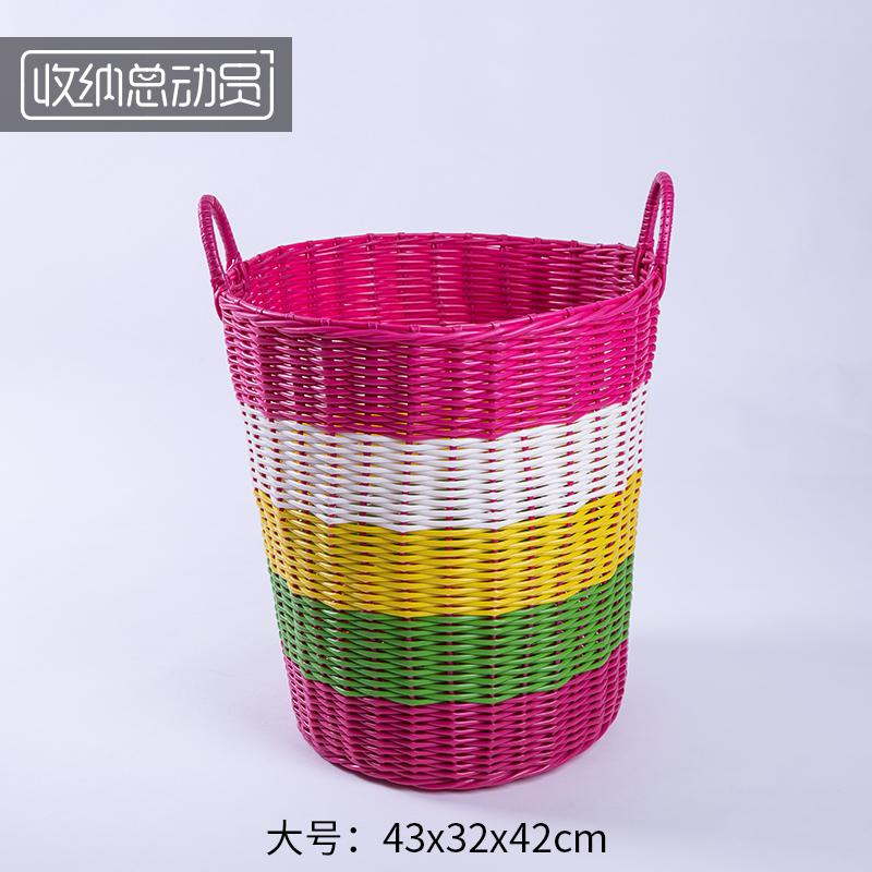 Пластиковая корзина, грязная одежда, корзина для хранения, одежда, корзина, игрушка, коробка Индиго, Бытовая Прачечная, ведро - Color: style 14
