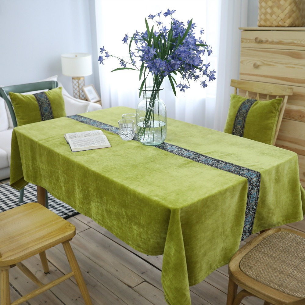 Tablecloth for table for kitchen table cover home decor for Home interior table