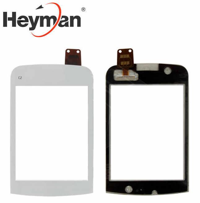 Heyman touchscreen para nokia C2-02, C2-03, C2-06 painel de vidro digitador frontal lente vidro sensor