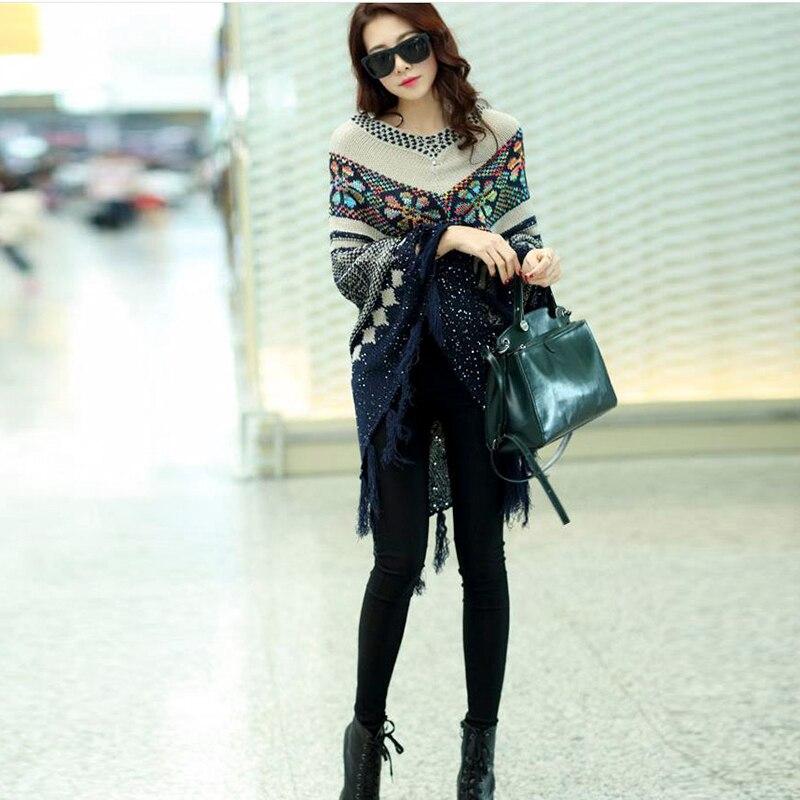 Весной и осенью мода Pull пуловер - Женская одежда - Фотография 5