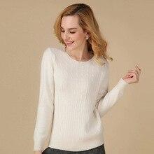 100 кашемировый свитер белые женские туфли одноцветное