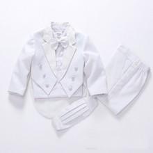 Торжественные Детские костюмы для мальчиков в европейском и американском стиле, черный/белый Детский костюм для мальчиков, свадебные костюмы для мальчиков, вечерние костюмы