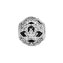 CKK Fits For Pandora Charms Bracelets Dazzling Star Beads With Clear CZ 100% 925 Sterling-Silver-Jewelry fits pandora reflexions bracelets charms 925 sterling silver with clear cz timeless sparkle clip beads for women jewelry diy