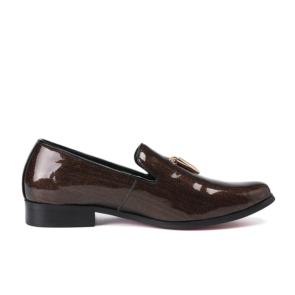 Echtem Hochzeit Größe Christia Braun Faulenzer Männer Kleid Quaste Business Brown Italienischen Leder Schuhe Mode Bella Slip Auf Große qAPqYa