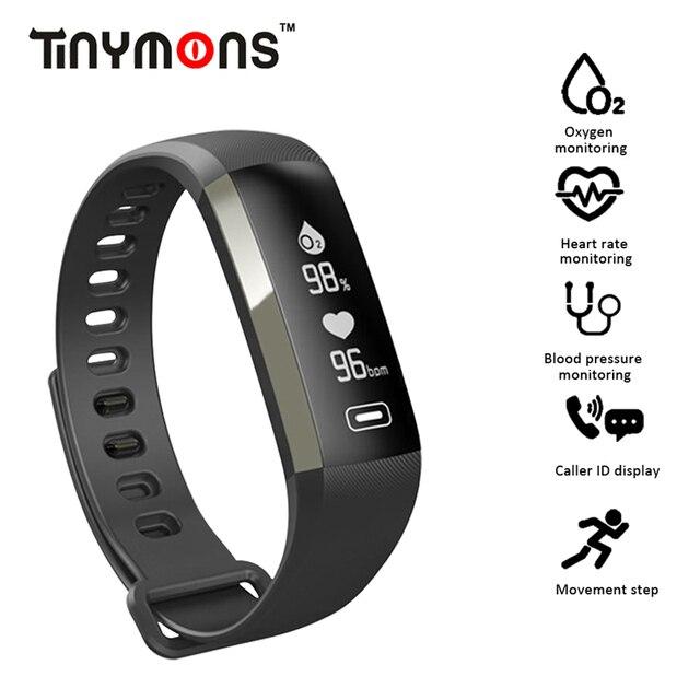 cbfc3ea45f86 € 17.79 31% de DESCUENTO Tinymons R92 Smart WristBand Fitness pulsera reloj  de ritmo cardíaco presión arterial oxígeno inteligente tiempo 50 ...