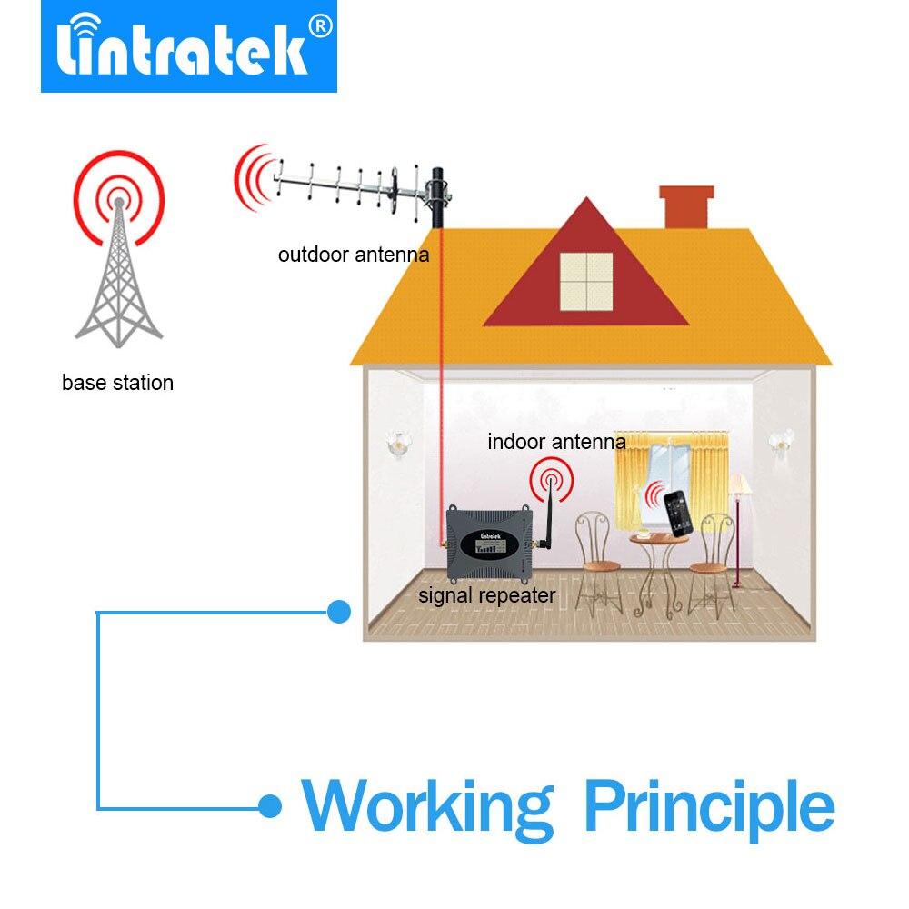 Lintratek Puissant GSM Répéteur 900 MHz LCD Affichage GSM Cellulaire Signal Booster UMTS 900 MHz Mini Téléphone Amplificateur MISE À JOUR #2017 - 5