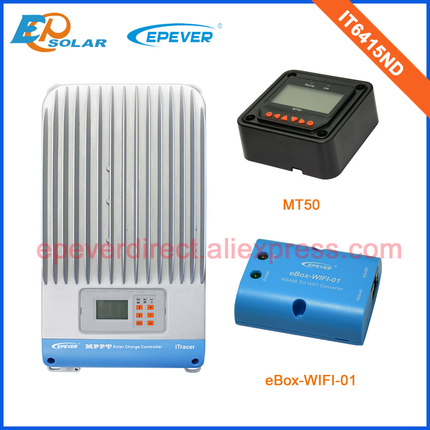 60A 60amp lcd display high efficiency solar power charge regulator with MT50 and wifi function MPPT IT6415ND60A 60amp lcd display high efficiency solar power charge regulator with MT50 and wifi function MPPT IT6415ND