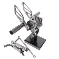 Rearset Rear Sets Foot Pegs Rests for Ducati 749/999 Foot Rests Footrests Motorcycle Adjustable