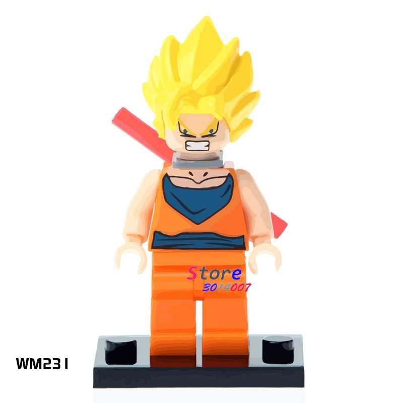 1 piezas de bloques de construcción de acción de los superhéroes de la bola del dragón del hijo de Goku colección Series diy juguetes para niños de regalo