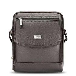 Сумка-мессенджер Мужская маленькая, модный саквояж на плечо из натуральной воловьей кожи, чемоданчик кросс-боди для путешествий