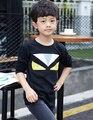 С длинным рукавом мультфильм тройники мальчиков и девочек футболка детской одежды симпатичный монстр Tshirt KT055A