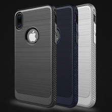 Phone Case Soft TPU Bumper Case Screen Protector Drop Protection Shock Absorption Technology for iPhone X Smartphone