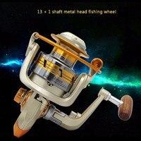 EZ1000 6000 Series 12BB 5 2 1 Fishing Reel Carretilha Pesca Wheel Metal Spool Spinning Fishing