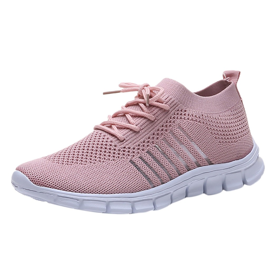 CHAMSGEND New Fashion Breathable Women's Mesh Sports Shoes Lightweight Running Shoes Comfortable Casual Shoes