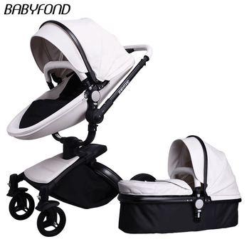 Babyfond, cochecito de paseo de asiento alto, cochecito de bebé con columpio giratorio, amortiguador para bebé, carrito plegable para bebé