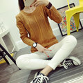Women Sweaters New Autumn Winter Elegant Thick O Neck Knitted Sweaters Casual Plus Size Long Sleeve Pullovers
