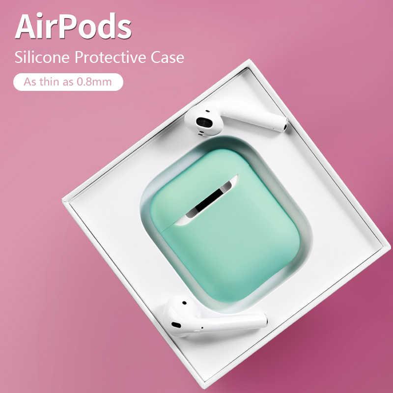 Ban Đầu Silicone Rung 2 Slim Cover Trường Hợp Nhiều Màu Bảo Vệ Tinh Tế Da Cho AirPods Dropshipping