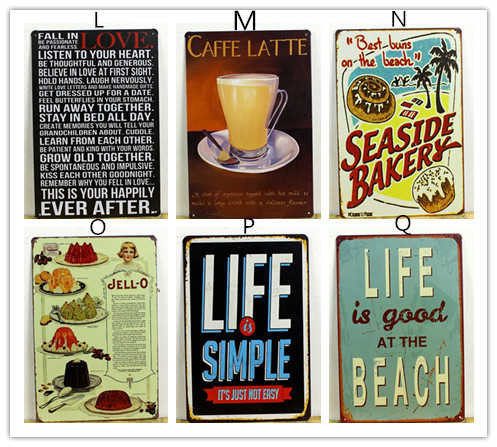 fashion hot cake dessert cafe bar kitchen tin sign wall metal painting vintage retro poster home