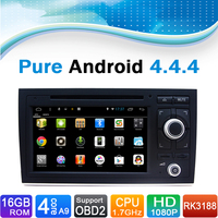16 GB iNand Flash, 4 Core, Pure Android 4.4.4 Car DVD Player for Audi A4(2002 2008.9) Car DVD GPS Navigation System