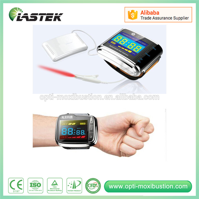 Health Care and Medical Care Reduce Blood Pressure lllt 650nm Wrist Laser Therapeutic Apparatus laser light device reduce blood pressure wrist watch wrist type laser