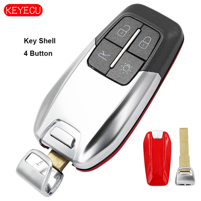 Keyecu スマート高級リモートキーシェル 4 ボタンフェラーリ 458 588 488GTB LaFerrari なしロゴ