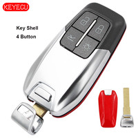 Keyecu Smart Luxury Remote Key Shell 4 Button for Ferrari 458 588 488GTB LaFerrari No Logo