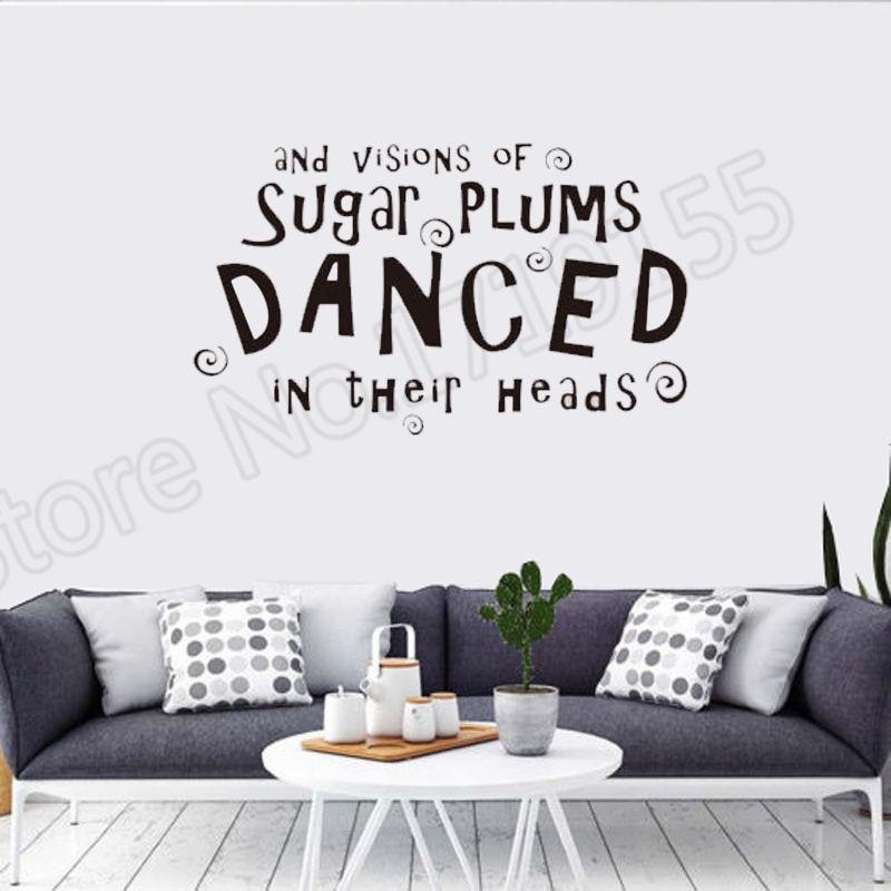 YOYOYU Wall Decal Creative wall quotes Sugar Plums Danced stickers Christmas Stickers art waterproof vinyl ZW57