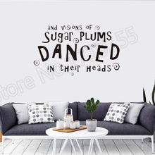 YOYOYU Wall Decal Creative wall quotes Sugar Plums Danced stickers Christmas Stickers art waterproof vinyl ZW57